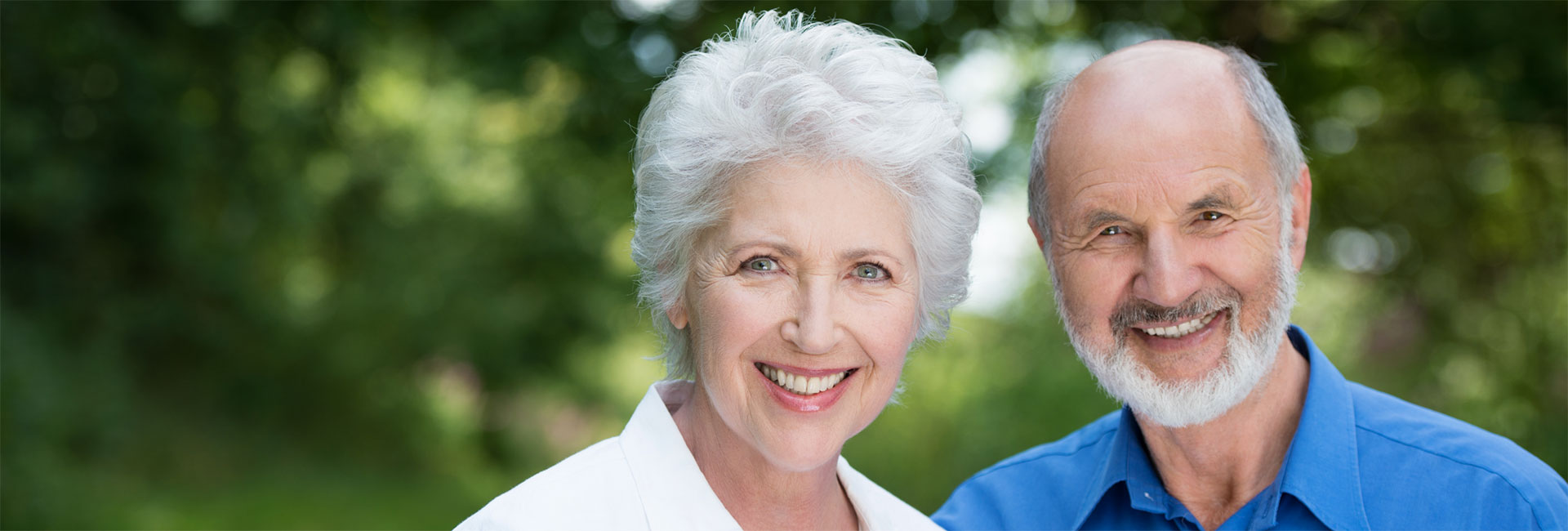 Smiling Elderly couple with great teeth